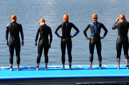 Swimmers get started