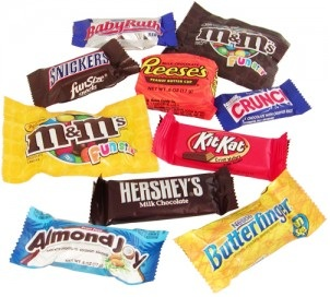 Fun-sized candy bar